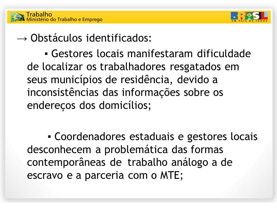 → Obstáculos identificados:
