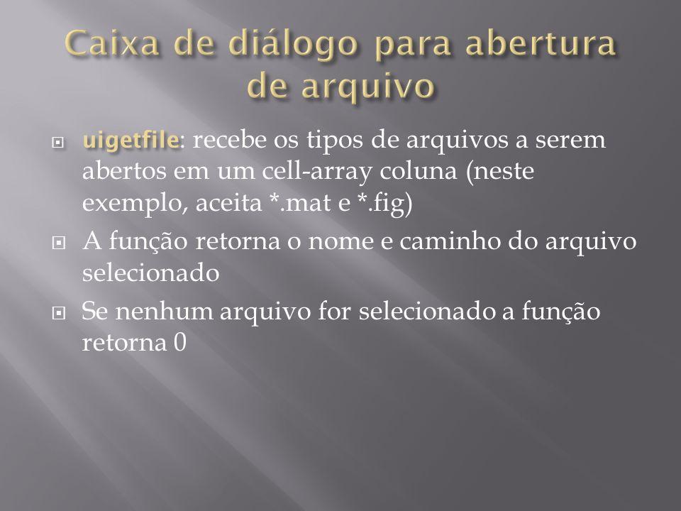 Caixa de diálogo para abertura de arquivo