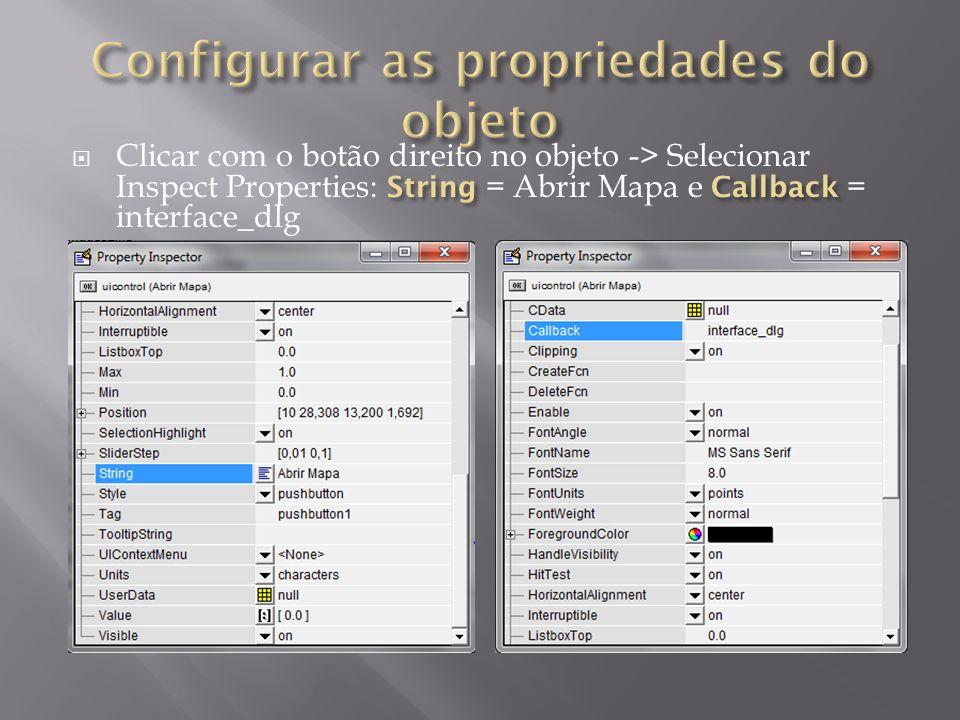 Configurar as propriedades do objeto