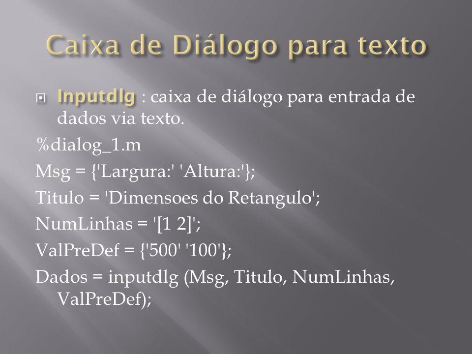 Caixa de Diálogo para texto