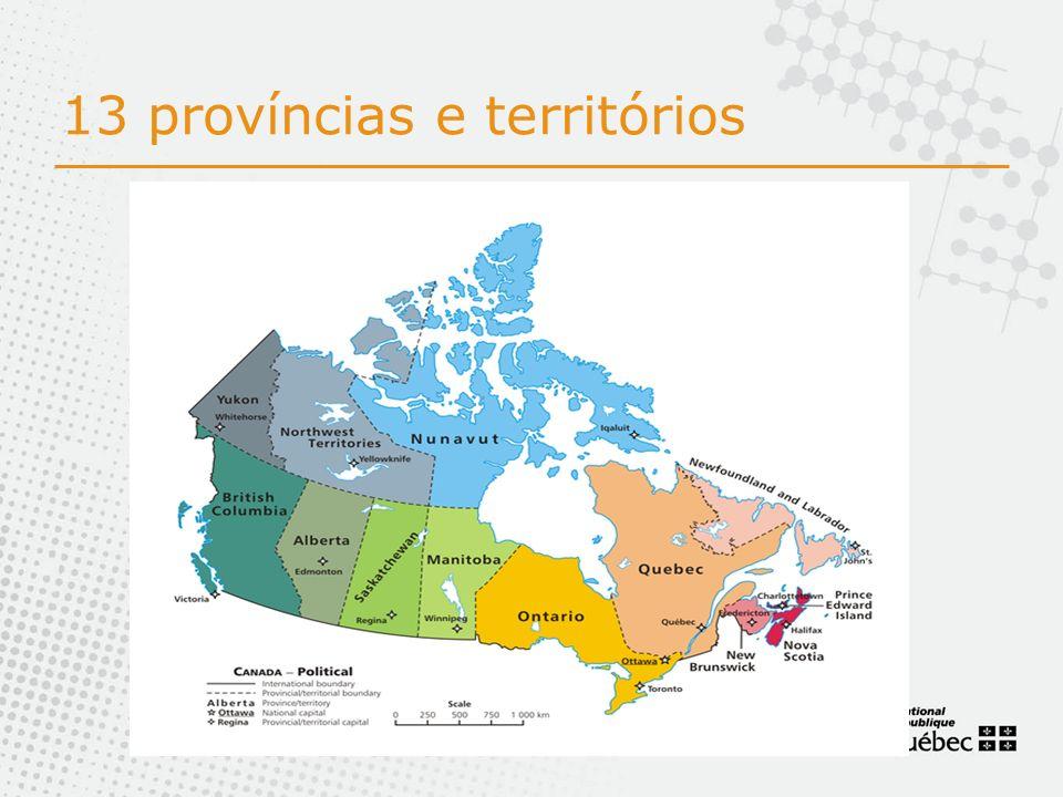 13 províncias e territórios