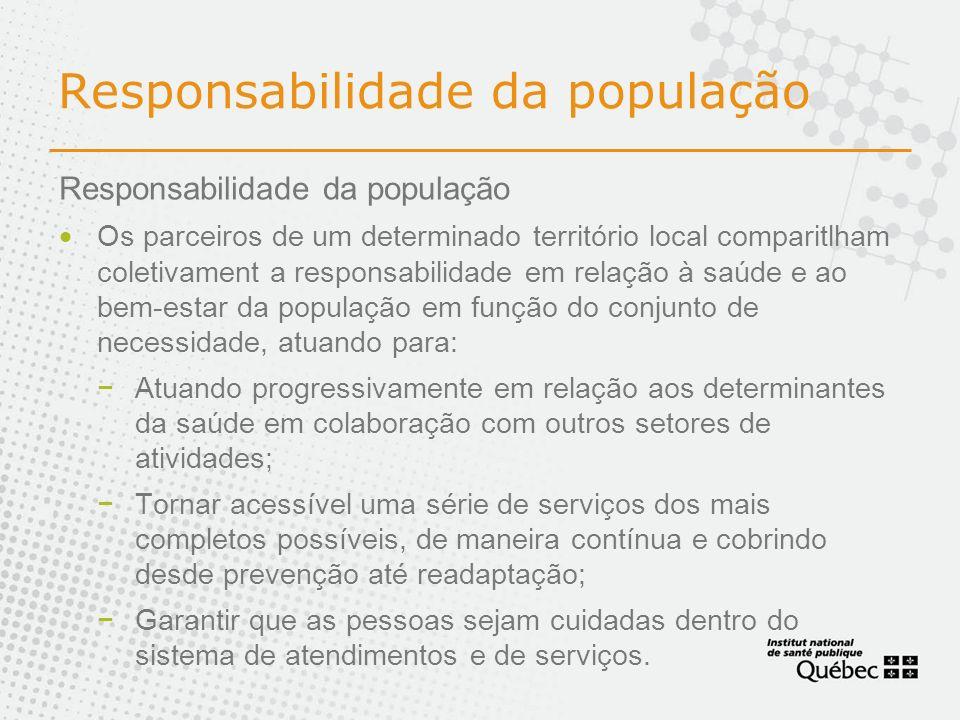 Responsabilidade da população