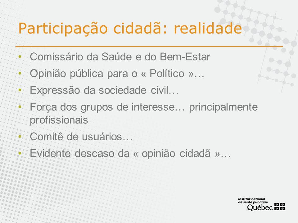 Participação cidadã: realidade