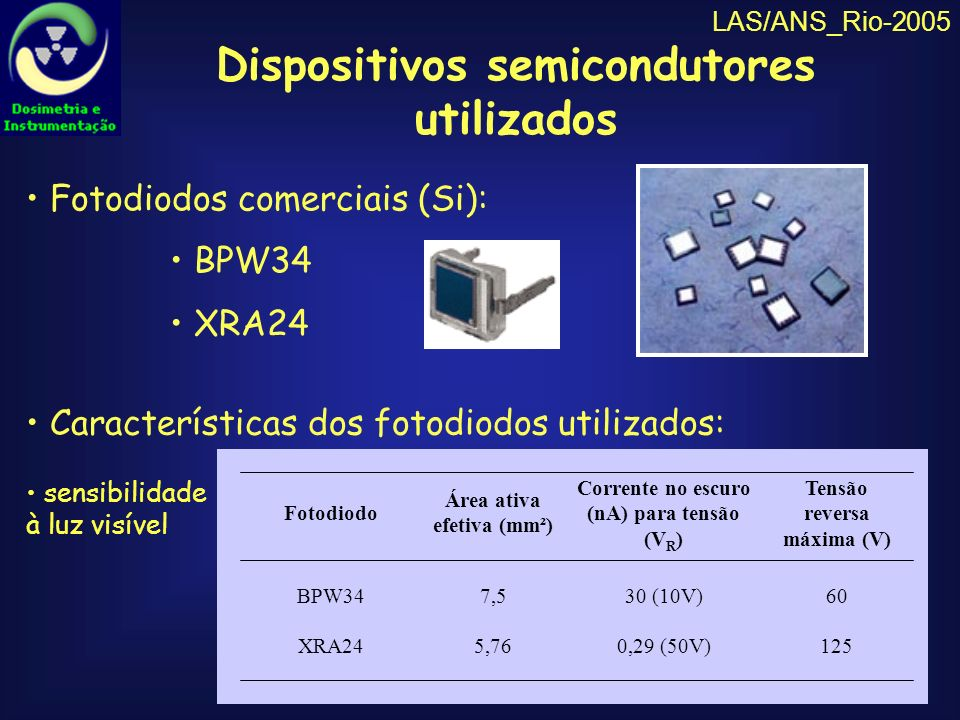 Dispositivos semicondutores utilizados