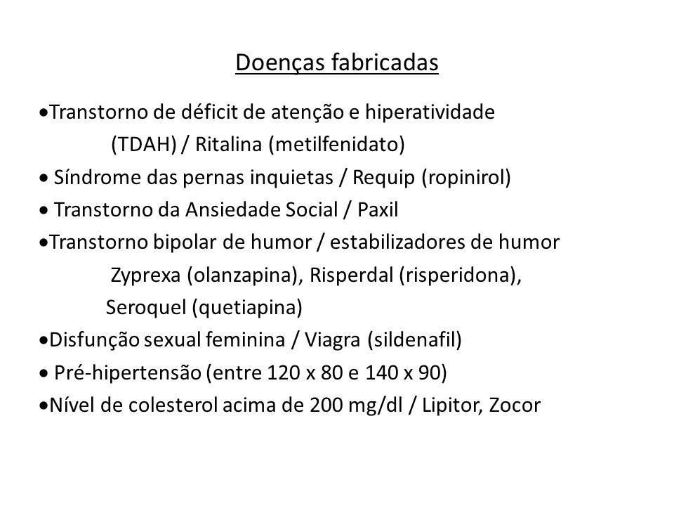 Doenças fabricadas Transtorno de déficit de atenção e hiperatividade