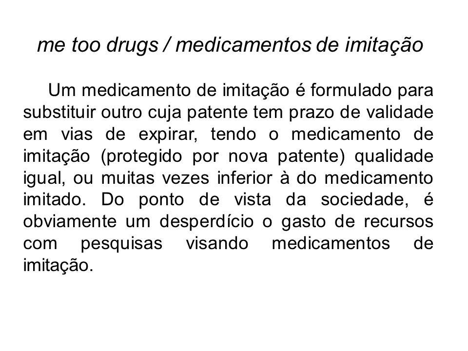 me too drugs / medicamentos de imitação