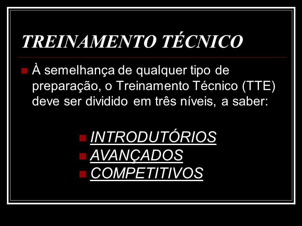 TREINAMENTO TÉCNICO INTRODUTÓRIOS AVANÇADOS COMPETITIVOS
