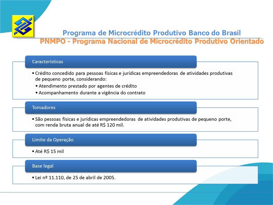 Programa de Microcrédito Produtivo Banco do Brasil
