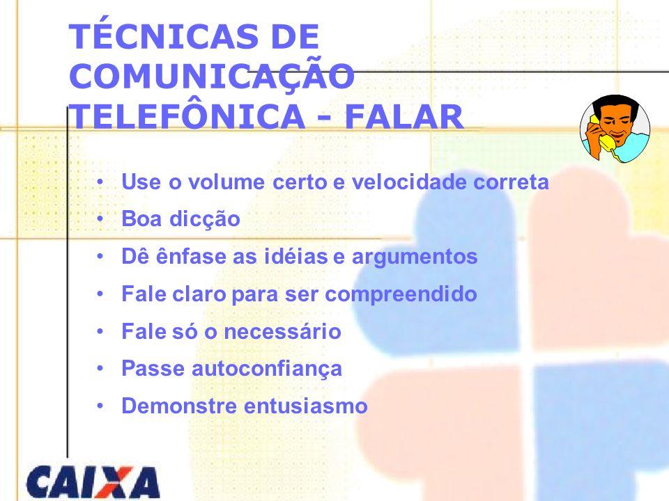 TÉCNICAS DE COMUNICAÇÃO TELEFÔNICA - FALAR