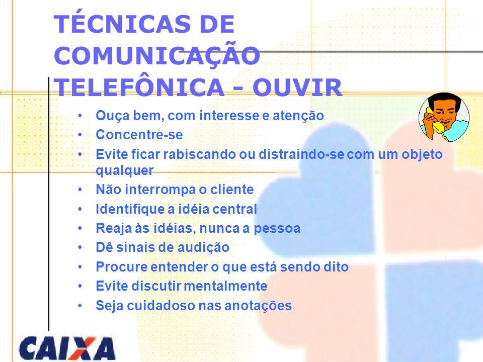 TÉCNICAS DE COMUNICAÇÃO TELEFÔNICA - OUVIR