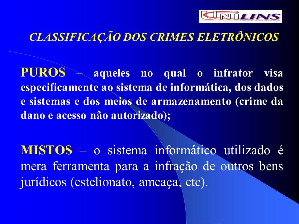 CLASSIFICAÇÃO DOS CRIMES ELETRÔNICOS
