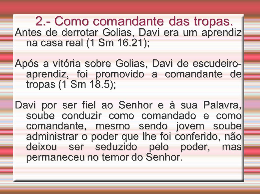 2.- Como comandante das tropas.