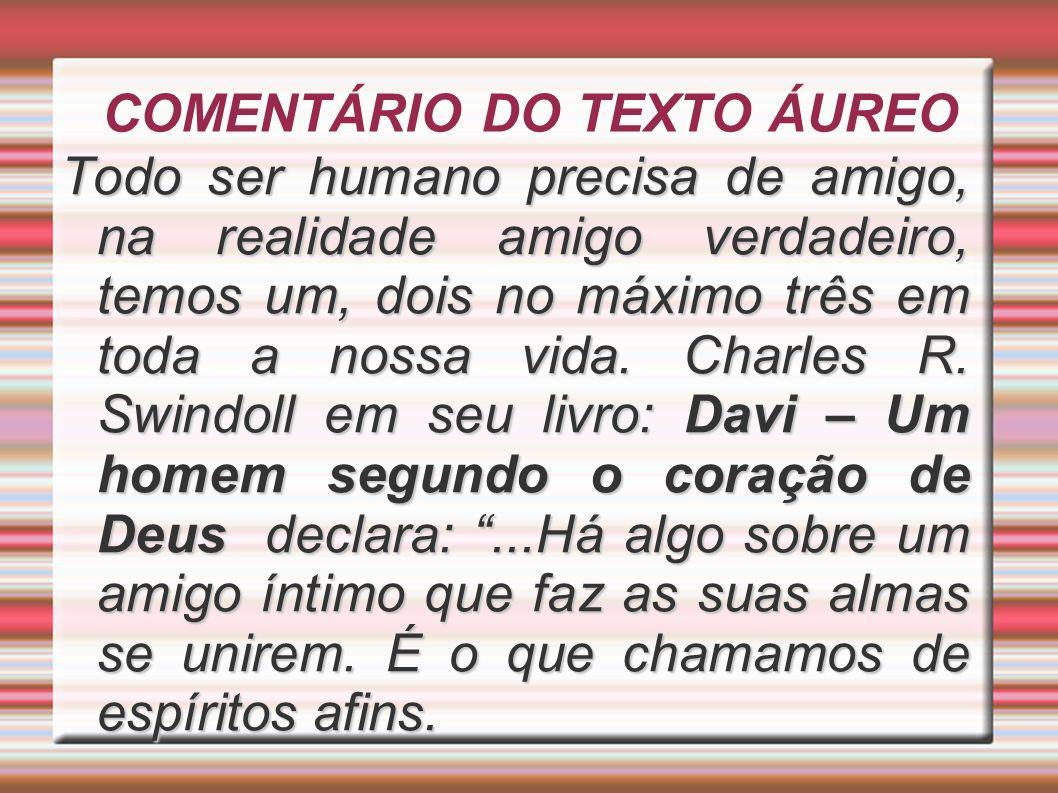 COMENTÁRIO DO TEXTO ÁUREO