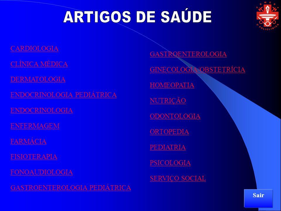 ARTIGOS DE SAÚDE CARDIOLOGIA GASTROENTEROLOGIA CLÍNICA MÉDICA