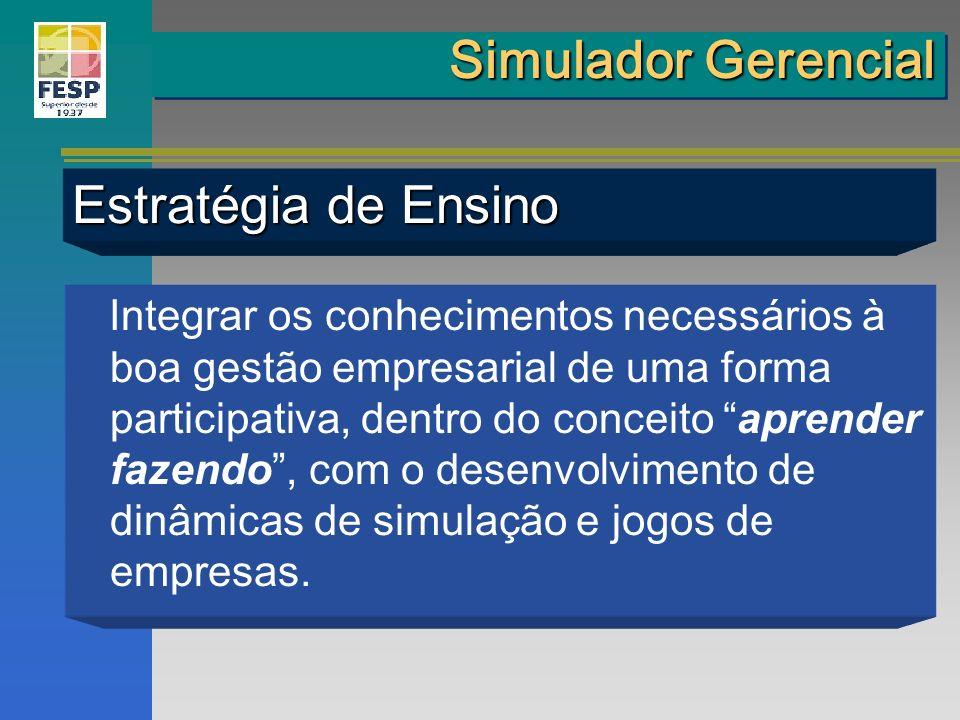 Simulador Gerencial Estratégia de Ensino