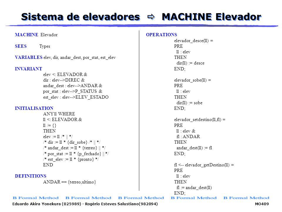 Sistema de elevadores  MACHINE Elevador