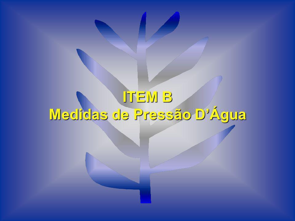 Medidas de Pressão D'Água