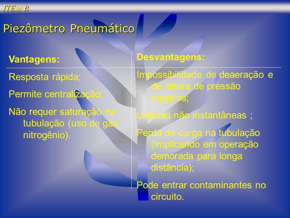 Piezômetro Pneumático