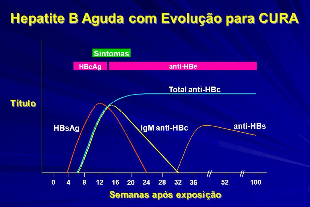 Hepatite B Aguda com Evolução para CURA