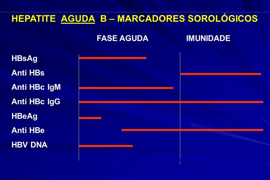 HEPATITE AGUDA B – MARCADORES SOROLÓGICOS