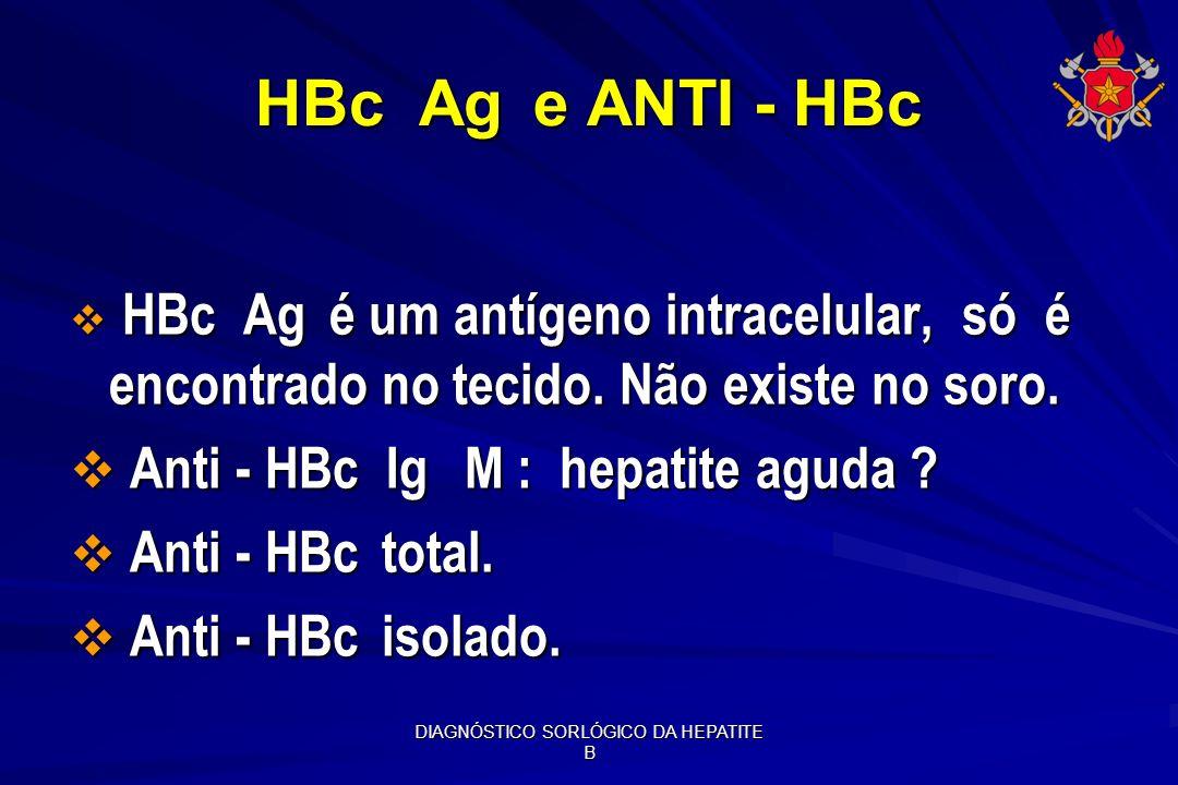DIAGNÓSTICO SORLÓGICO DA HEPATITE B