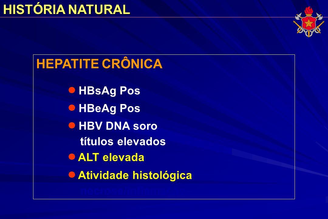 HISTÓRIA NATURAL HEPATITE CRÔNICA títulos elevados necrose/inflamação
