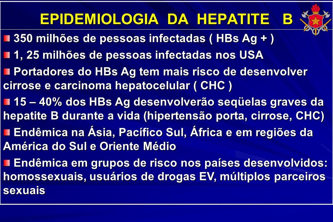 EPIDEMIOLOGIA DA HEPATITE B