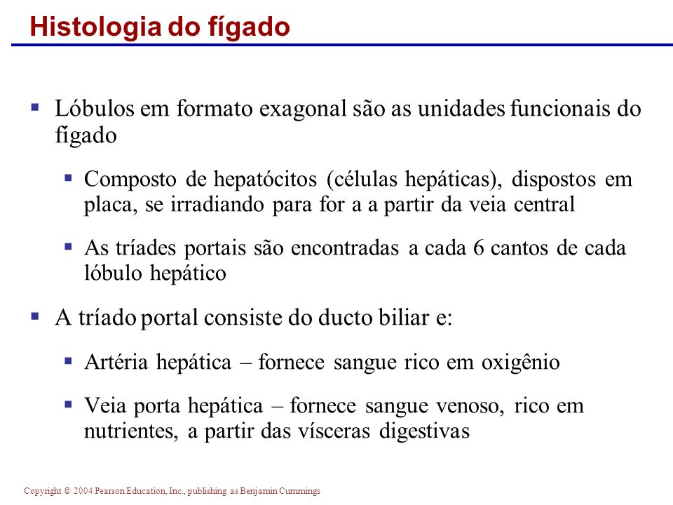 Histologia do fígadoLóbulos em formato exagonal são as unidades funcionais do fígado.
