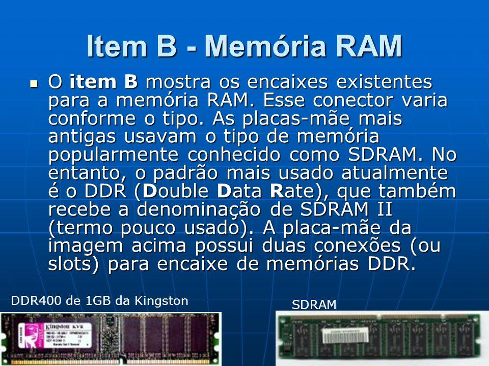 Item B - Memória RAM