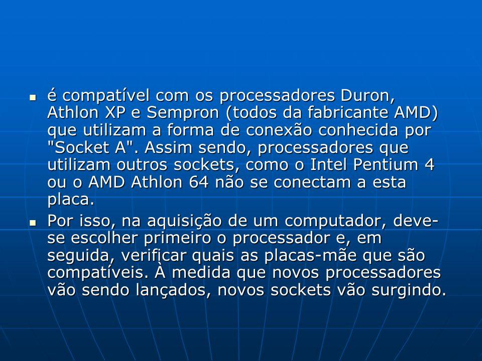 é compatível com os processadores Duron, Athlon XP e Sempron (todos da fabricante AMD) que utilizam a forma de conexão conhecida por Socket A . Assim sendo, processadores que utilizam outros sockets, como o Intel Pentium 4 ou o AMD Athlon 64 não se conectam a esta placa.