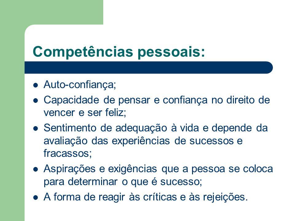 Competências pessoais: