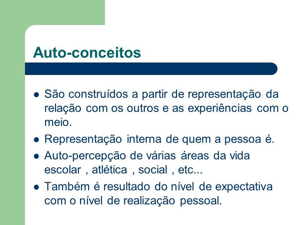Auto-conceitosSão construídos a partir de representação da relação com os outros e as experiências com o meio.