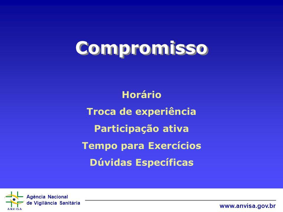 Compromisso Horário Troca de experiência Participação ativa