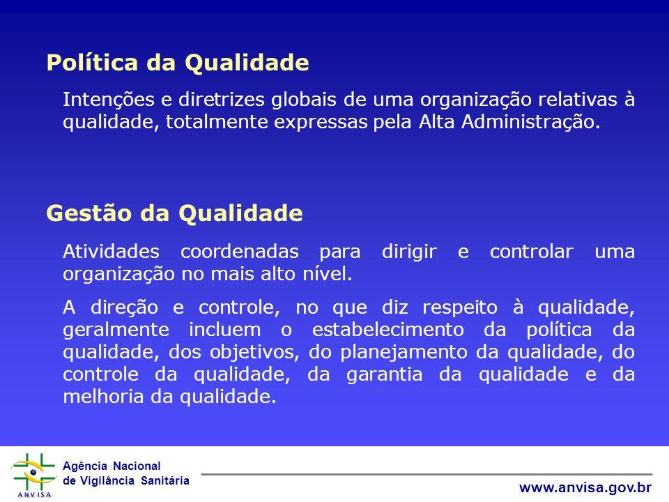 Política da Qualidade Gestão da Qualidade