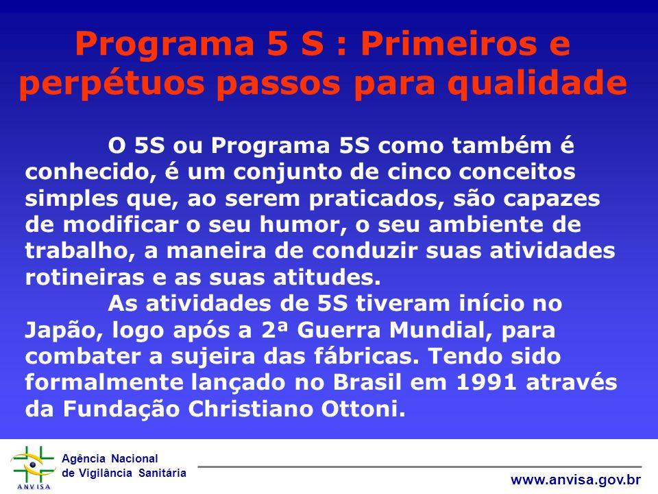 Programa 5 S : Primeiros e perpétuos passos para qualidade