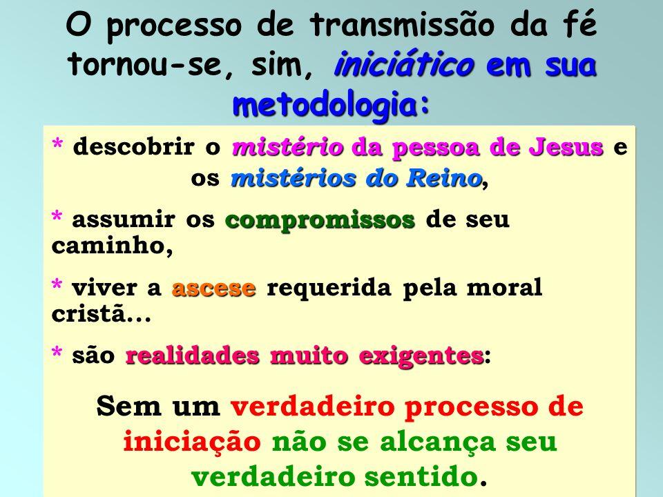 * descobrir o mistério da pessoa de Jesus e os mistérios do Reino,