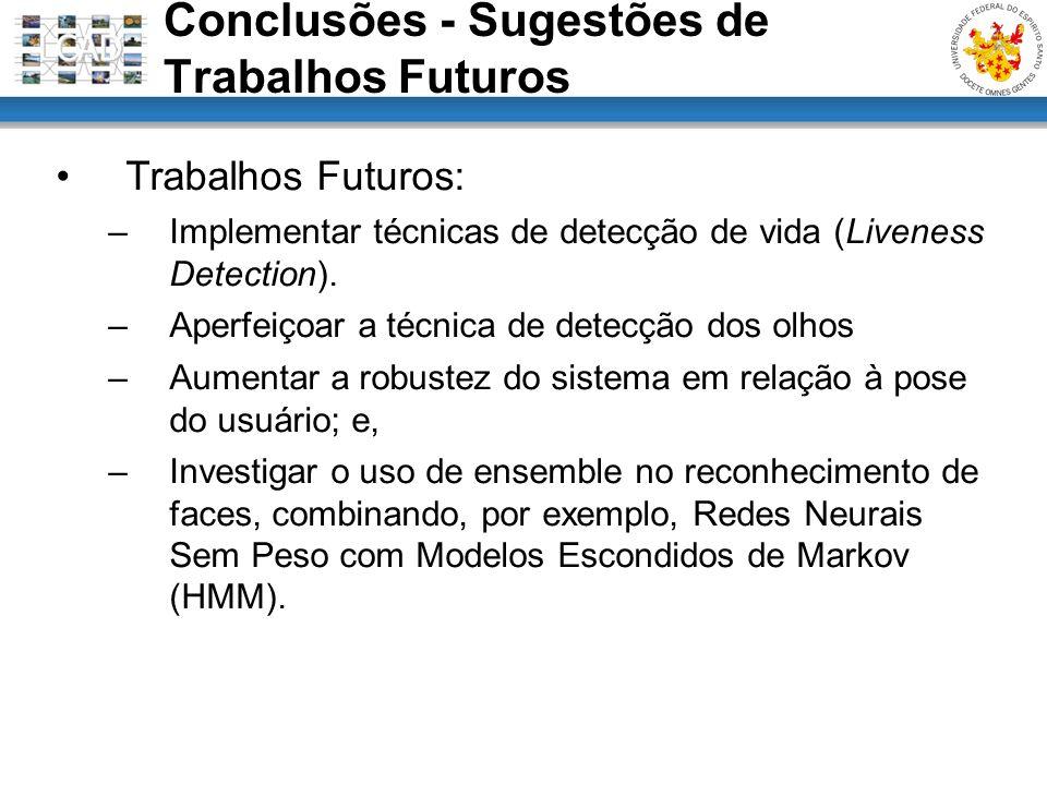 Conclusões - Sugestões de Trabalhos Futuros
