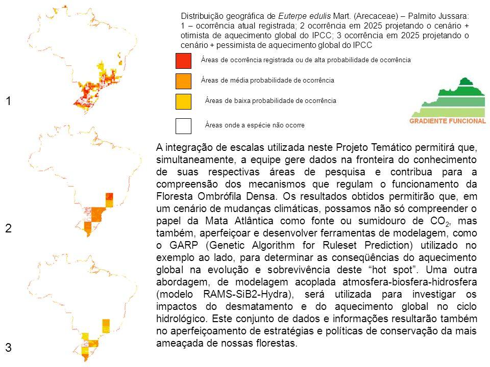 Distribuição geográfica de Euterpe edulis Mart