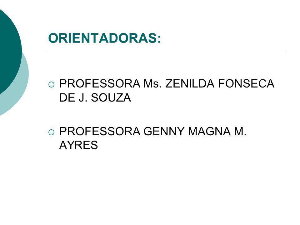 ORIENTADORAS: PROFESSORA Ms. ZENILDA FONSECA DE J. SOUZA