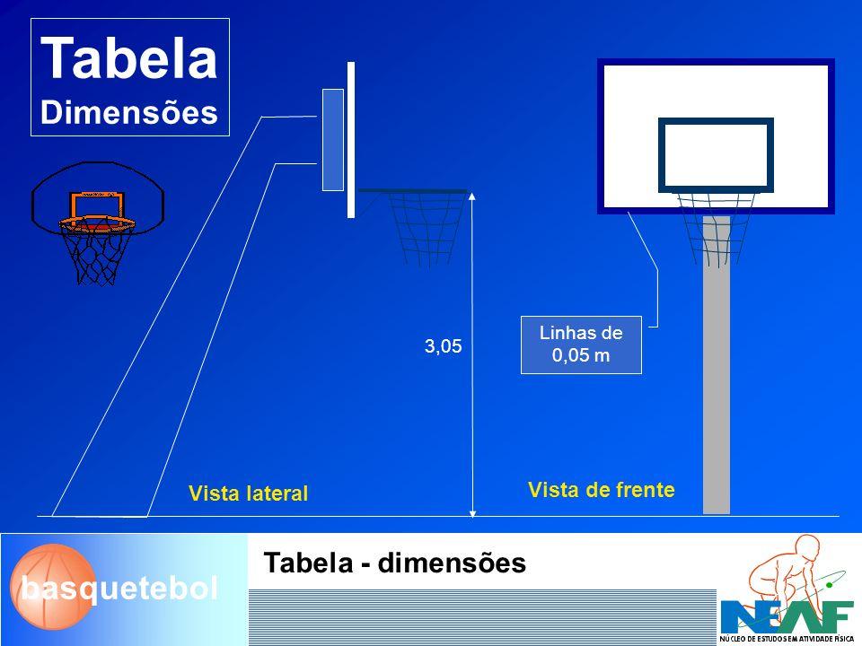 Tabela Dimensões Tabela - dimensões Vista de frente Vista lateral