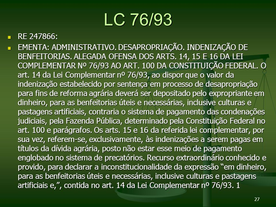 LC 76/93 RE 247866: