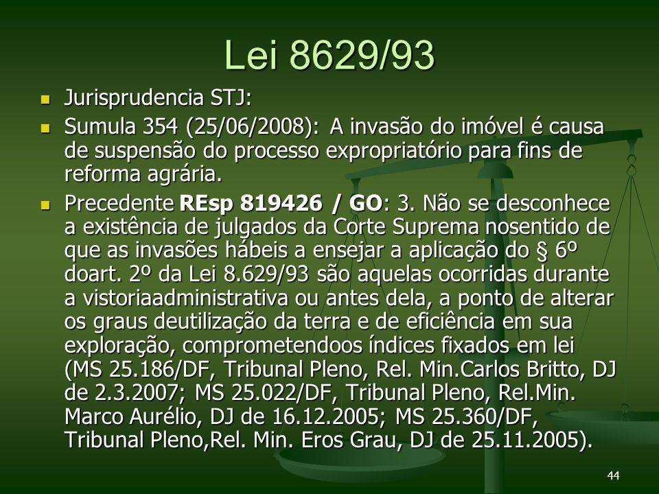 Lei 8629/93 Jurisprudencia STJ: