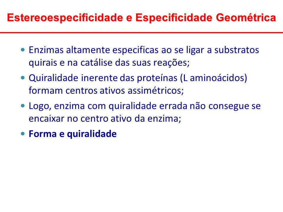 Estereoespecificidade e Especificidade Geométrica