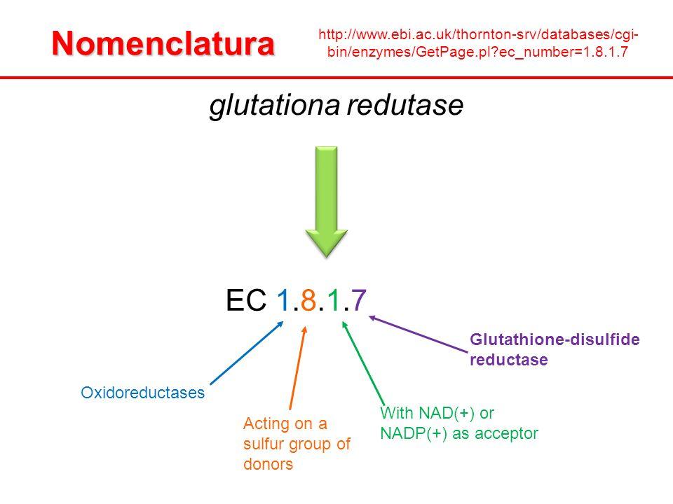 Nomenclatura glutationa redutase EC 1.8.1.7
