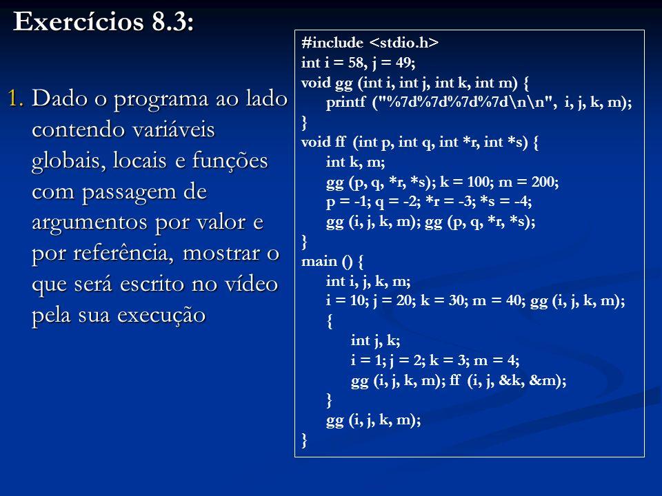 Exercícios 8.3: