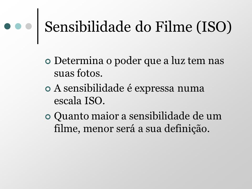 Sensibilidade do Filme (ISO)