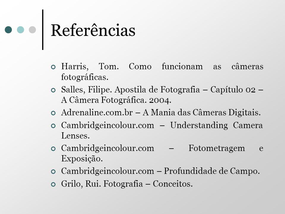 Referências Harris, Tom. Como funcionam as câmeras fotográficas.