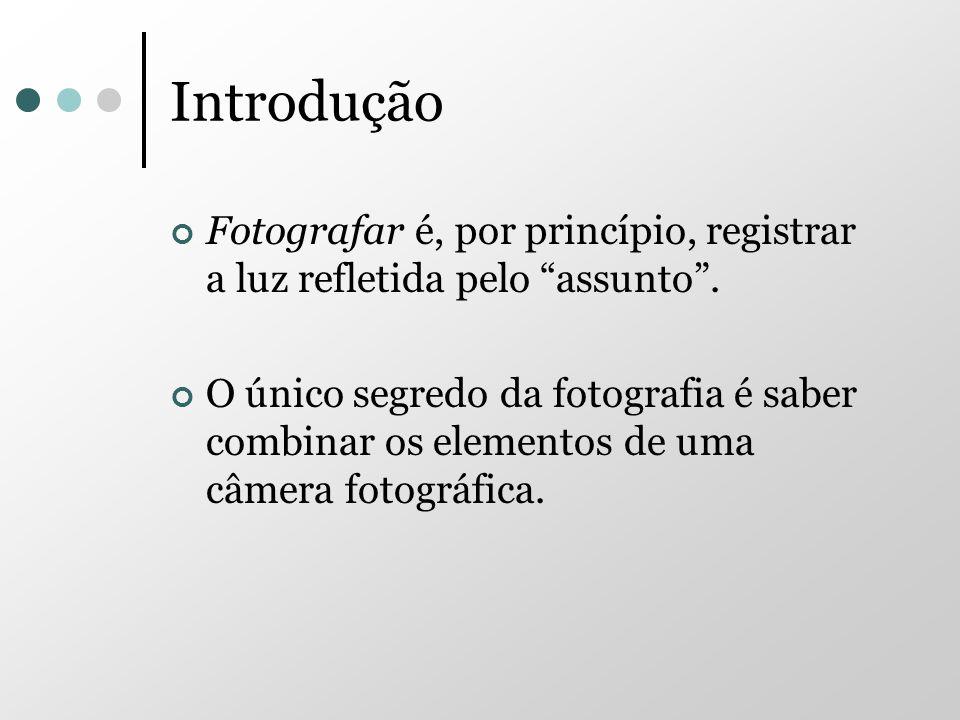 Introdução Fotografar é, por princípio, registrar a luz refletida pelo assunto .