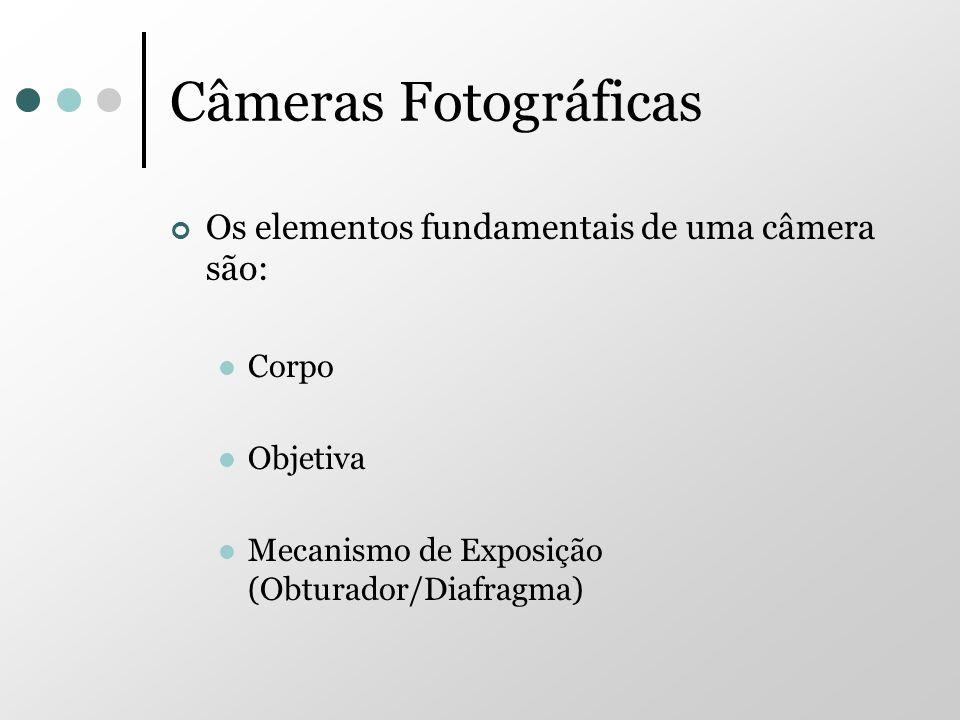 Câmeras Fotográficas Os elementos fundamentais de uma câmera são: