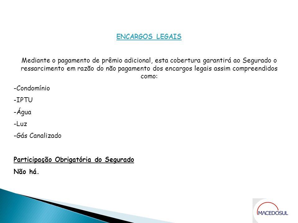 Coberturas ENCARGOS LEGAIS